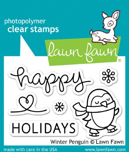 LF0727 S  ~  WINTER PENGUINS ~  CLEAR STAMPS BY LAWN FAWN